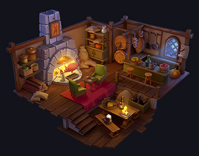 Tavern. Cartoon game art