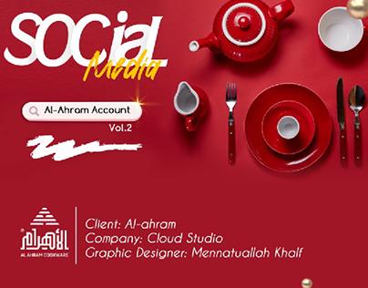 Social Media Designs - Al Ahram Cookware