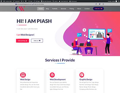 Creatives Web - Personal Portfolio Website