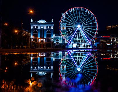 Night Kiev, Ferris wheel
