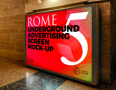 Rome Underground Ad Screen Mock-Ups 3