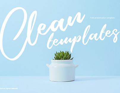 FREE POWERPOINT TEMPLATES | Clean