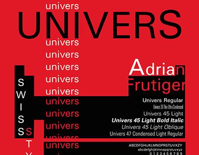UNIVERS - Typography Poster (Cartaz Tipográfico)