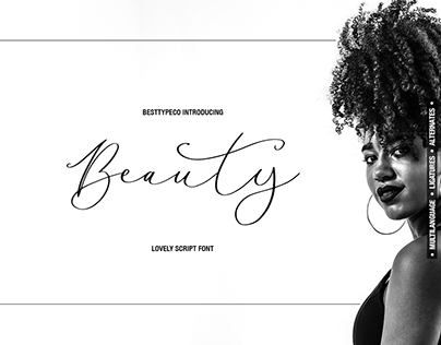 Beauty Scipt Font by besttypeco