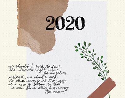 2020 Bullet Journal Mockup