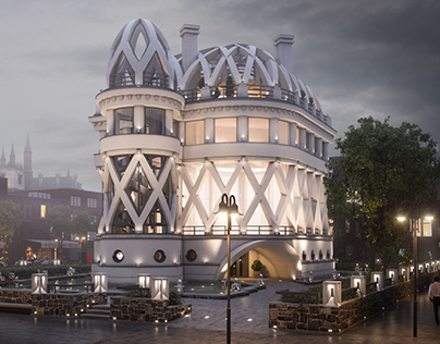 Conceptual design of the mansion in London