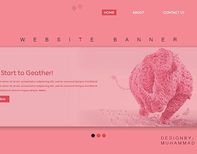 Website Banner - WEB UI