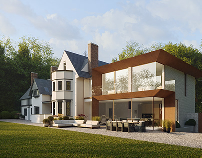 Exterior visuals for a project in Woodhouse Eaves