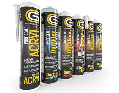 CG PROFESSIONAL label design