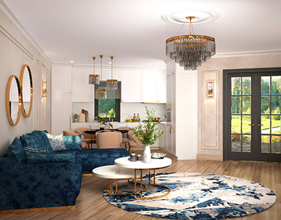 KSD-project. Design for home. Living room and kitchen