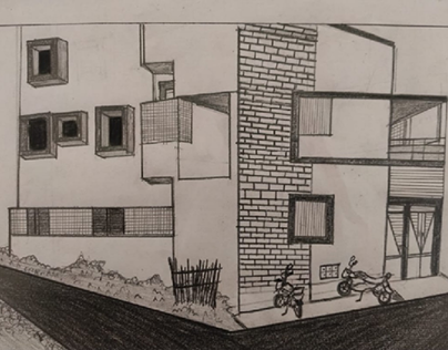 Perspective Drawing - Two point perspective.