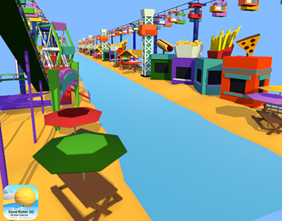 Sand Roller 3D - Theme Park Environment
