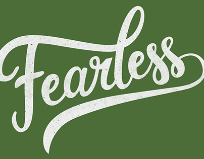 'Fearless' (brush lettering) Tshirt design