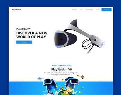 PlayStation VR Website Concept