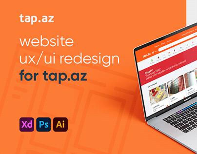 TAP.AZ | website redesign
