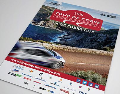 Visuels officiels Tour de Corse WRC 2015
