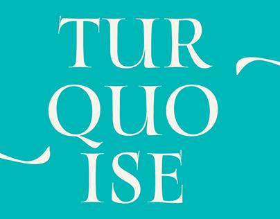Turquoise Typeface