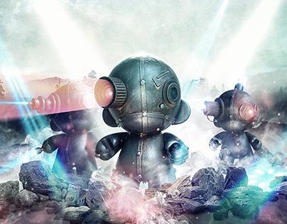 MoInk Custom Vinyl: Attack of the  ROBO MUNNYs