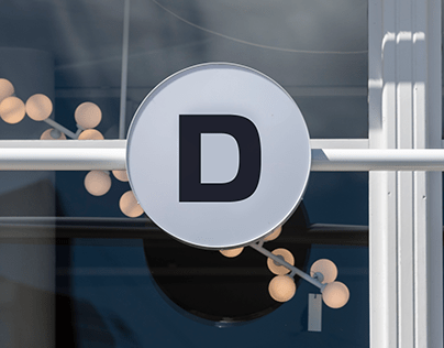 Sign for a design store