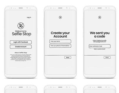 Selfie Stop App Design