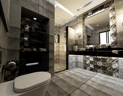 Design d'une salle de douche style moderne