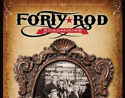 Forty-Rod Roadhouse Menu Design