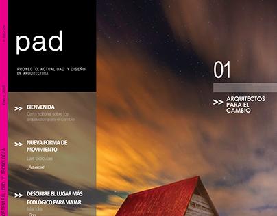 Revista pad (Proyecto, actualidad y diseño)