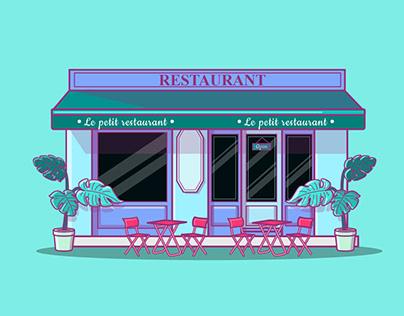 Ilustration | Parisian facades