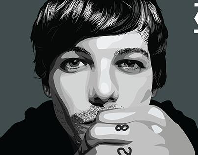 One Direction | Louis Tomlinson (Vector Art)