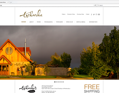 Tshcarke Wines Website Design