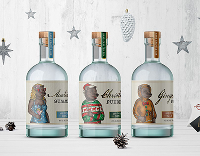 Christmas Gin Labels