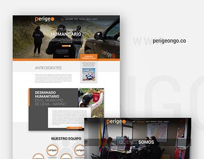 UI/UX Perigeo NGO Web Design