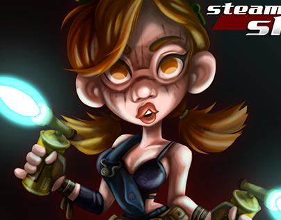 Steamgirl sky fanart