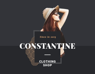 Constantine clothing shop template