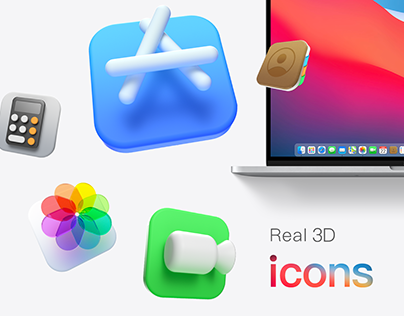 macOS Big Sur 3D icons