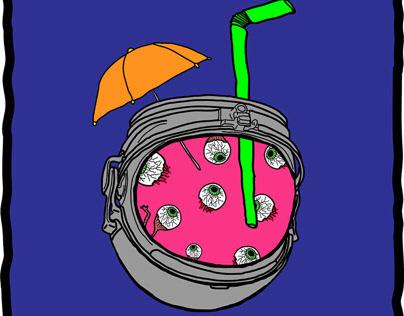 Space astronaut cocktail