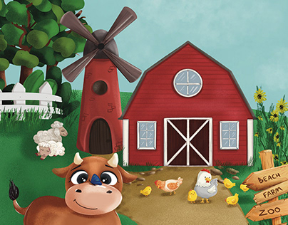 The Apple of my Eye Goes to the Farm. Children's book