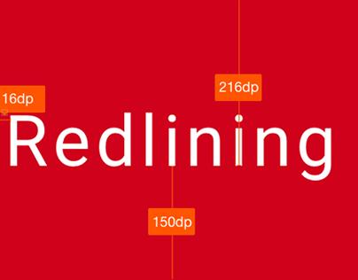 Google Material Design Guidelines: Redlining
