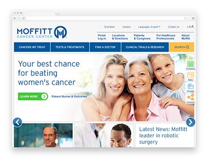 Moffitt Cancer Center Site Redesign