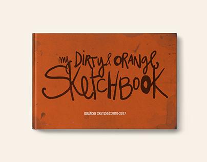 My dirty orange sketchbook urban sketching