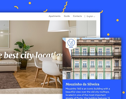 Porto Tourist Apartments Website Redesign