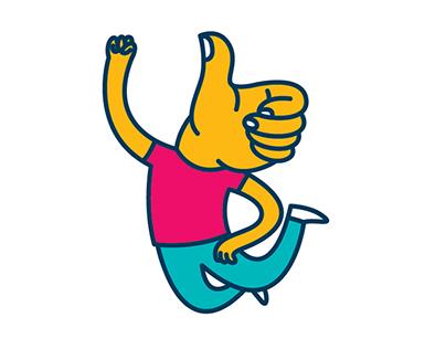 Talk to the hands | Google Allo Stickers