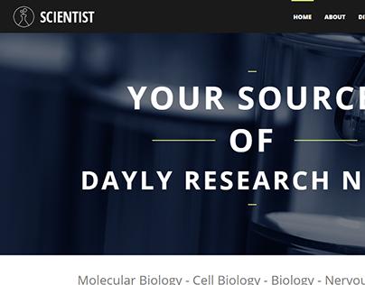 Scientists Joomla Template