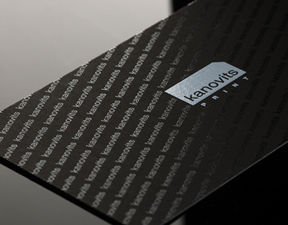 Kanovits Print business cards and packaging (2020)
