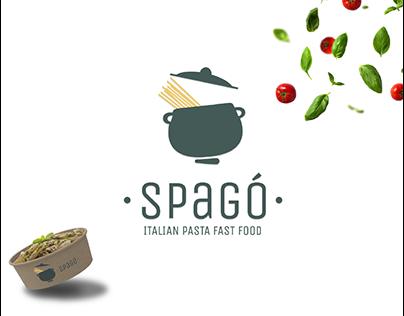 "Logo Design&Branding | ""SPAGò""_ THE FIRST FLOST FOOD"