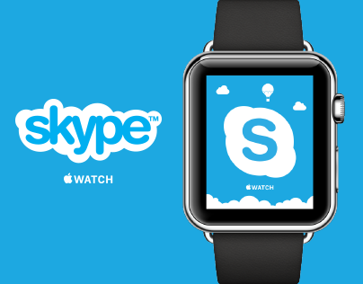 Redesign concept for Skype Apple Watch version