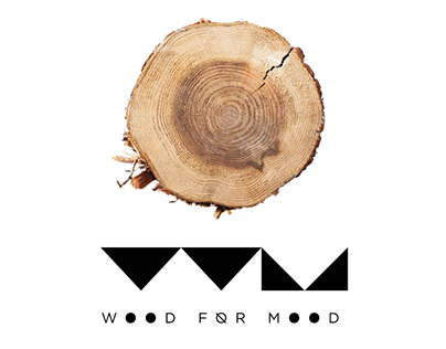 """Logo and Web for """"Wood for Mood"""""""