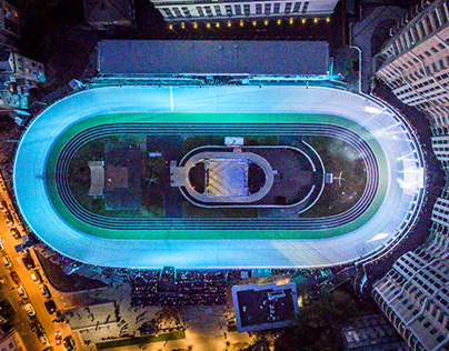 Opening Сycle Track in Kyiv / 3D Light Show