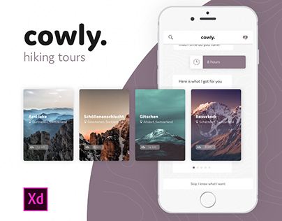 cowly. - guided hiking tours #IconContestXD