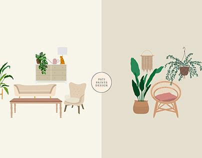 Furniture Illustrations